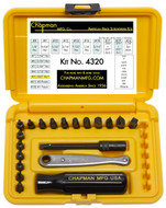 Chapman Standard + Open Slot Screwdriver Set, Safety Yellow Case - 4320-Y