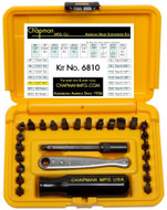 Chapman Standard + Star Screwdriver Set (Torx Bit Set), Safety Yellow Case - 6810-Y
