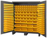 "Durham Mfg. 14 Gauge Cabinet, 264 Yellow Bins, 72"" x 24"" x 84"" - BDLP-264-95"