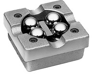 "Flexbar Ball Bearing V-Blocks, 3-3/8"" x 3-3/8"" x 1-3/8"" without Clamps - 16098"