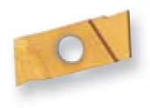 "Full Radius Grooving Insert, C6 TiN coated, Right Hand, 0.039"" W x 0.019"" R - 80-177-9"