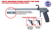 Guardair U75XT Ultra Xtra Thrust Series Safety Air Guns with Enhanced Venturi Nozzle