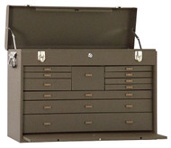 "Kennedy 26"" 11-Drawer Machinists' Chest, Brown Wrinkle - 52611B"