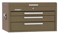 "Kennedy 26"" 3-Drawer Mechanics' Chest, Brown Wrinkle - 263B"
