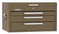 "Kennedy 26"" 3-Drawer Mechanics' Chest, Brown Wrinkle - 263B"