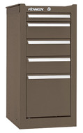 Kennedy K1800 5-Drawer Side Cabinet, Brown Wrinkle - 185XB