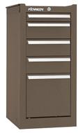 Kennedy K1800 5-Drawer Side Cabinet, Brown Wrinkle - 185XB