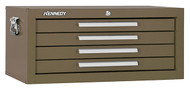 "Kennedy 26"" 4-Drawer Mechanics' Chest Base, Brown Wrinkle - 2604B"