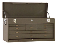 "Kennedy 26"" 8-Drawer Machinists' Chest, Brown Wrinkle - 526B"