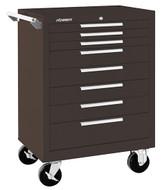 "Kennedy K1800 27"" 8-Drawer Roller Cabinet, Brown Wrinkle - 378XB"