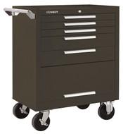 "Kennedy K1800 27"" 5-Drawer Roller Cabinet, Brown Wrinkle - 275XB"