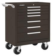 "Kennedy K1800 27"" 7-Drawer Roller Cabinet, Brown Wrinkle - 277XB"