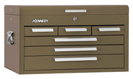 "Kennedy 26"" 6-Drawer Mechanics' Chest, Brown Wrinkle - 266B"