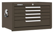 "Kennedy K1800 27"" 5-Drawer Mechanics' Chest, Brown Wrinkle - 285XB"