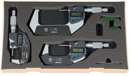 """Mitutoyo Coolant Proof Micrometer SET, Range 0-3"""" - 293-960-30"""