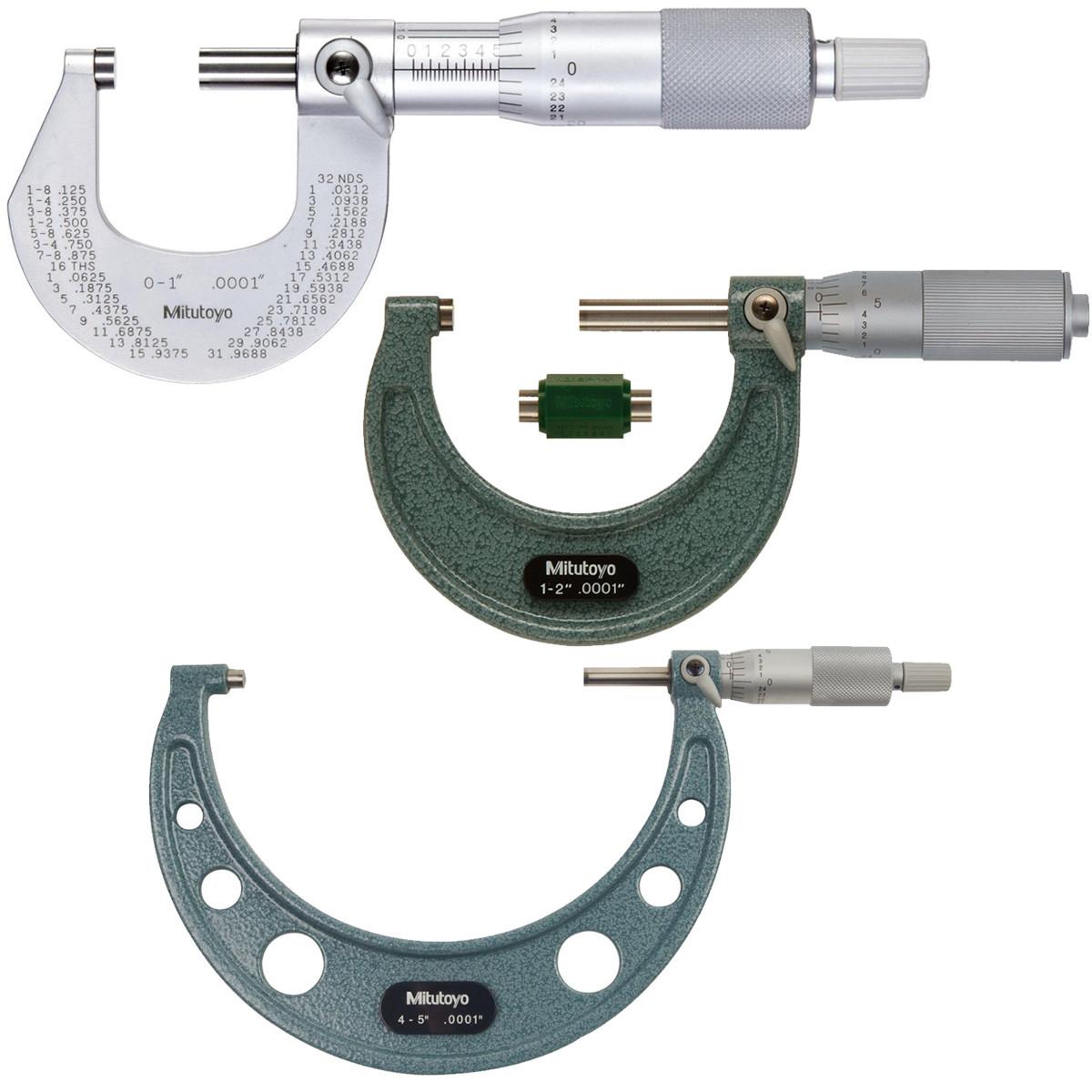 "Ratchet Stop 1-2/"" Satin-chrome Finish Mitutoyo 101-114 Outside Micrometer"