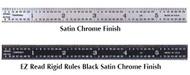 PEC Flexible Black Chrome Rule, EZ Read - FR-412