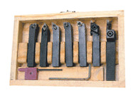 "Precise 7 Pc. Indexable Carbide Turning Tools Set, 1/2"" Sq Shank - 404-1052"