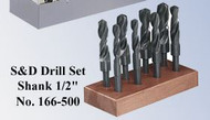 Precise High Speed Steel Drill Sets - 166-500