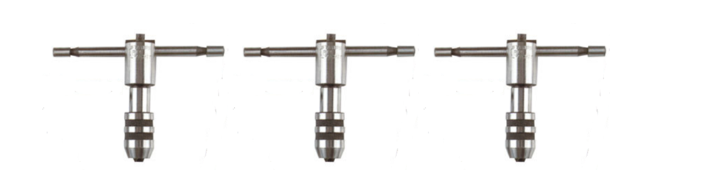 3 Piece T-Handle Tap Wrench Tool Set