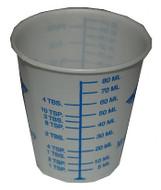 1oz Graduated Plastic Cups, Pk of 100 - 16210