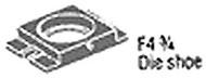 "Roper Whitney F 4-3/4"" Die Shoe - 139426060"