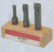 SPI Boring Bars SET, for CNC and Conventional Lathes, 5 Pc. with C2 Inserts - 82-701-4