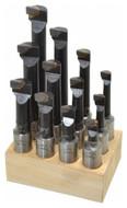 "Carbide Tipped Boring Bars 12 Piece Set, Grade C-6, 3/4"" Shank - 43-799-6"