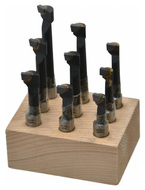 "Carbide Tipped Boring Bars 9 Piece Set, Grade C-6, 3/8"" Shank - 43-763-2"