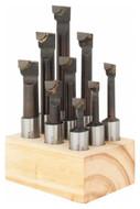 "Carbide Tipped Boring Bars 9 Piece Set, Grade C-6, 1/2"" Shank - 43-773-1"