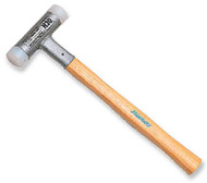 "Dead Blow Nylon Hammer, Hickory Handled, 1-3/8"" Face Dia., 13-3/16"" Length - 98-513-5"