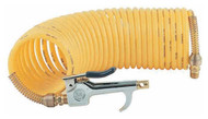 Coilhose Pneumatics Safety Blow Gun & 25 ft. Self-Storing Nylon Air Hose Set 600-N25A - 61-322-4