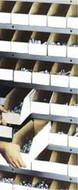 White Corrugated Shelf Bin Boxes