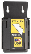 Stanley Utility Knife Blades, Blade Dispenser with 100 pcs. #11-921A - 82-376-5