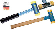"Wiha Dead Blow Hammer with Polyurethane Press Fit Tips, Steel Head w/ Hickory Handles, 1"" Face dia. - 80025"