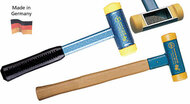 "Wiha Dead Blow Hammer with Polyurethane Press Fit Tips, Steel Head w/ Hickory Handles, 1.8"" Face dia. - 80045"