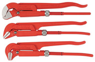 "Wiha Pipe Wrench 12"" Narrow Style, 3 Piece Set - 32995"