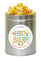 Happy Birthday 1 Quart Popcorn Tin