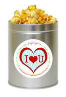 I Love You 1 Quart Popcorn Tin