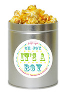 Oh Joy, It's A Boy!  1 Quart Popcorn Tin