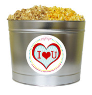 I Love You 2 Gallon Popcorn Tin