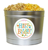 Happy Birthday 2 Gallon Popcorn Tin