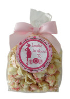 About to Pop! 2-CUP Bowtie Bag Personalized Popcorn Favors - Girl
