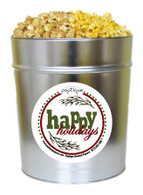 Happy Holidays  3.5 Gallon Popcorn Holiday Gift Tin