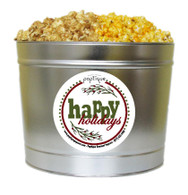 Happy Holidays  2 Gallon Popcorn Holiday Gift Tin