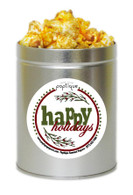 Happy Holidays  1 Quart Popcorn Holiday Gift Tin