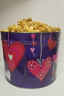 Heart Strings  2 Gallon Popcorn Gift Tin