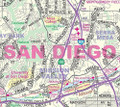 "Greater SAN DIEGO Detailed Wall Map *Laminated* 36""x54"" Updated!"