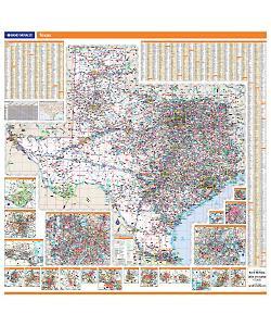 Rand McNally Texas State Wall Map - Thomas Maps