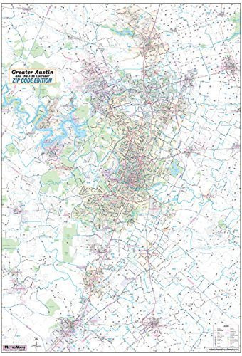 San Antonio / Greater Bexar County Laminated Wall Map LARGE 48\